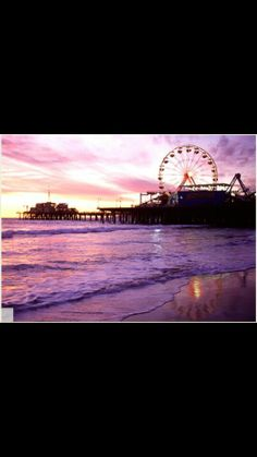 Santa Monica, California - our new home! It was tough to leave Atlanta, though we miss our family & friends so much, but Santa Monica is fantastic! The weather is always sunny and around 65 to 70 degrees and the people are very nice. Great Places, Places To See, Beautiful Places, Hiding Places, Santa Monica, California Dreamin', Historical Sites, Places To Travel, Scenery
