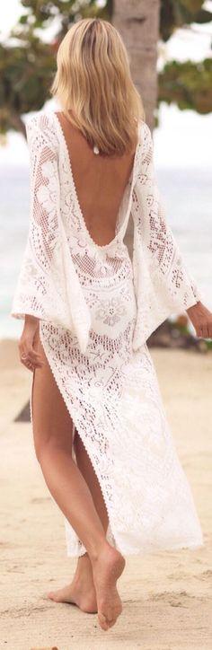 V Collar Sexy Halter Split Lace Vacation Dress – LULULIKE