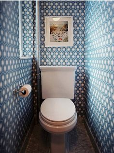 interesting wallpaper idea for a cloakroom