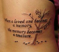 Memorial Tattoo, in Erinnerung Tattoo, Lebensbaum, Memorial Tattoo Ideen, in Memo … - tattoos ideas Tattoos Skull, Mom Tattoos, Trendy Tattoos, Future Tattoos, Body Art Tattoos, Tatoos, Wing Tattoos, Quote Tattoos Girls, Thigh Tattoos
