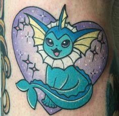 Pokemon tattoos by Alex Strangler