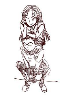Robin x Starfire — starrfiiire: x Robin Starfire, Nightwing And Starfire, Original Teen Titans, Team Cap, Cosplay, Young Justice, Best Couple, Dc Comics, Marvel