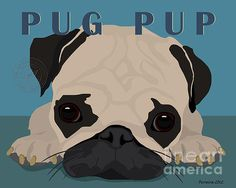 Pug Pup Poster By Michael Ferreira