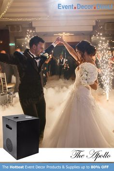 Event Decor Direct's The Apollo Cool Sparkler Machine is perfect to lighten up weddings and special events. Safe for use indoors and outdoors. This flame-less spark machine can shoot sparks up to 16 FT and an excellent alternative to fireworks. Buy Now at EventDecorDirect.com New Wedding Dresses, Cheap Wedding Dress, Saree Wedding, Cheap Formal Dresses, Dresses For Sale, Bridal Shower Questions, Wedding Fireworks, Event Decor Direct, Wedding Events