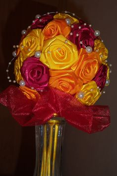 Red, orange and yellow roses