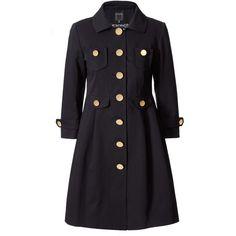 Ottoman Coat ($298) ❤ liked on Polyvore featuring outerwear, coats, jackets, coats & jackets, tops, women, orla kiely coat, patterned coat, pleated coat and print coat