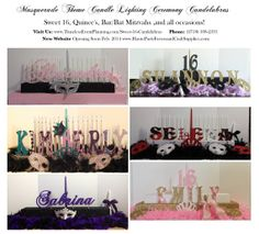 sweet sixteen candle holders   Masquerade Theme Sweet 16 Candle Holder Stand Board Quince Candle ...