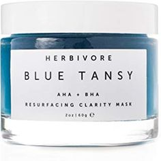 The Herbivore - Natural Blue Tansy Resurfacing Mask Blue Tansy Mask, Blue Tansy Oil, Herbivore Blue Tansy, Revision Skincare, Mask Online, Sensitive Skin Care, Organic Makeup, Tinted Moisturizer, Facial Oil