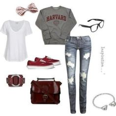 school outfits on tumblr | school outfit tumblr - Google Search | We Heart It <3 it!