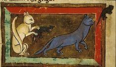 Medieval - Animal - Cat and rats