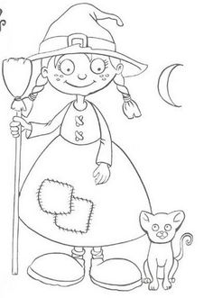 halloween Halloween Coloring Pictures, Halloween Coloring Pages, Cute Coloring Pages, Coloring Sheets, Coloring Books, Pretty Halloween, Halloween Crafts For Kids, Holidays Halloween, Halloween Decorations