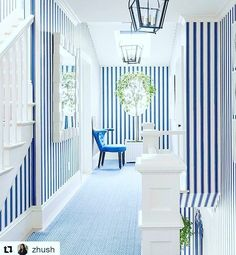Happy Sunday! How will you transform your interiors this weekend? We love this bright striped interior from @markdsikes via @zhush . It screams happy! #interiors #design #home #stripes