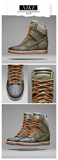 Nike Dunk Sky Hi Sneakerboot Wedge. I'm kinda torn between liking and disliking them... I didn't write this and I agree #lovehate