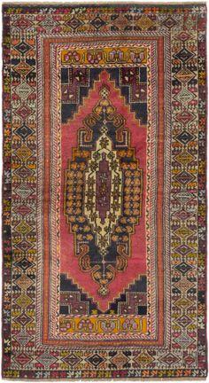 "4'4"" x 7'9"" Vintage Turkish Anatolian Rug"