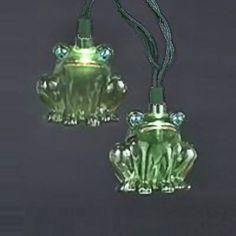 Indoor/Outdoor Green Frog String Lights