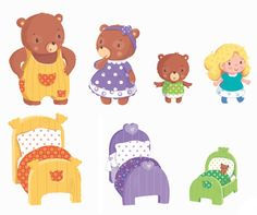 Fairy Tale Activities, Rhyming Activities, Preschool Learning Activities, Preschool Lessons, September Preschool, Goldilocks And The Three Bears, Printable Preschool Worksheets, English Worksheets For Kids, Bear Theme