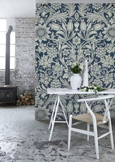 'Sunflowers' Mural - V&A Collection, from £60 per sq/m | Shop Cushions & Wall Murals at surfaceview.co.uk
