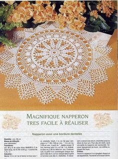 #23 Crochet Lace Doily with Snowy Trees