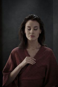 Makramee Ring und gehäkelte Kette von knitjewelry.design Jewelry Knots, Knitting, Design, Fashion, Chain, Rings, Moda, Tricot, Fashion Styles