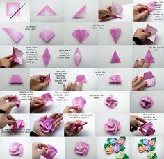enrHedando: Como hacer Flores de Origami ¡Divinas! Paso a Paso
