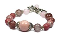 Attract Love...Heart Chakra Bracelet with Genuine Pink Opal and other gemstones by iyildiz, $30.00