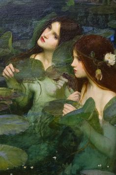 """c0ssette: """"Hylas and the nymphs"""" (detail, oil on canvas) by John William Waterhouse, 1896."""