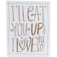 I'll Eat You Up I Love You So Canvas Wall Art