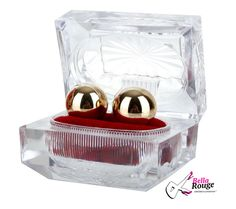 Gold Ben Wa Balls to keep those kegel muscles nice and tight! Vagina, Gift Hampers, Dildo, Jouer, Clear Crystal, Exercise Balls, Decorative Boxes, Good Things, Canning