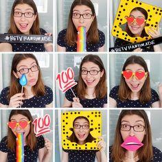 DIY Snapchat-Inspired Photobooth Props | Karen Kavett