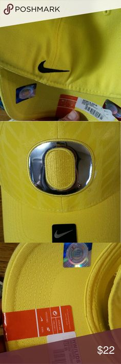 Oregon ducks fitted hat Brand new oregon yellow hat Nike Accessories Hats