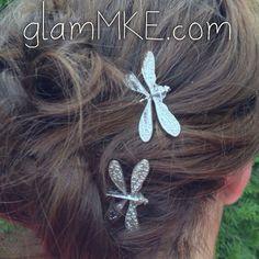 Dragonfly Wedding Bobby Pins Bridal Party Wedding Hair di glamMKE