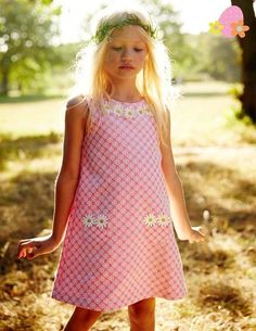 Daisy Dress 33354 Day Dresses and Pinnies at Boden - Boden's Easter Egg Hunt - Day Dresses, Cute Dresses, Dresses For Sale, Girls Dresses, Summer Dresses, Young Fashion, Girl Fashion, Dresser, Easter Hunt