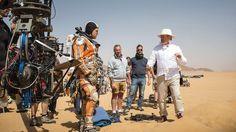 Matt Damon and Ridley Scott, who took over directing The Martian when Drew Goddard left the project. Courtesy of Twentieth Century Fox. Matt Damon, 2015 Movies, New Movies, Life Is Like, What Is Life About, Belfast, Cinema, Next Film, Ridley Scott