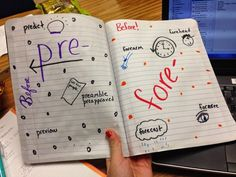 Morphology illustrations are a great way for students to remember prefixes, suffixes, and roots.