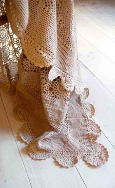 Vintage crocheted blanket Flower por lacasadecoto