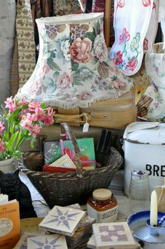 'Thank Vintage it's Friday' Vintage Fayre organised by Hay Does Vintage in Hay-on-Wye Vintage Shops, Picnic, Basket, Friday, Shopping, Picnics, Baskets, Vintage Stores, Hamper