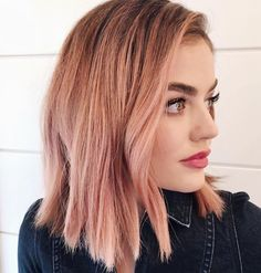 50 irresistible Rose Gold hair color looks like you can pull off this trend - Beliebt Frisuren - Medium Hair Cuts, Medium Hair Styles, Short Hair Styles, Hair Color 2017, Cool Hair Color, How To Colour Hair, Hair Colour Ideas, 2018 Color, Cabelo Rose Gold