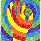 """This project is a study in warm, cool and complementary colors in a fun and popular format. My """"Warm Hand"""" pdf file consists of Circle, Diamond and..."""