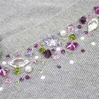 Embellish Your Life - this free online beading class from Spotted Canary will teach you the basics of crystals and how to recreate this luscious crystallized sweater.