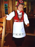 My mother in law made a bunad from Hardanger for my daughter when she was five (see pictures below). It consisted of the west and hat from t. Ethnic Outfits, Ethnic Clothes, Headpiece, Safari, Doll Clothes, To My Daughter, Costumes, Barn, Scandinavian