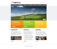 Clean Power Website Templates by Hugo