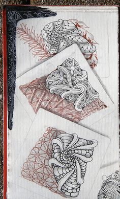fengle examples by Maria Thomas, Zentangle Co-Founder