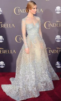 Prom Dresses 2018 Lily James in Elie Saab Couture Elie Saab Couture, Dress Couture, Blue Wedding Dresses, Prom Dresses, Light Blue Wedding Dress, Club Dresses, Lily James, Chloe Sevigny, Dress Plus Size
