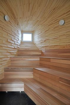 the new #sauna in our town - built with #reclaimed materials