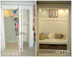 DIY entryway closet makeover