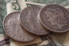 list of the most valuable silver dollars - including Morgan dollars, Peace dollars, and Eisenhower dollars.A list of the most valuable silver dollars - including Morgan dollars, Peace dollars, and Eisenhower dollars. Rare Coins Worth Money, Valuable Coins, Old Silver Coins, Gold Coins, Silver Bullion, Bullion Coins, Silver Dollar Value, Value Of Silver Dollars, Morgan Silver Dollar