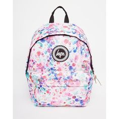 Hype Backpack in Multi Colored Polka Dot (€39) ❤ liked on Polyvore featuring bags, backpacks, multi, multi colored backpacks, zip bags, day pack backpack, dot backpack and rucksack bag