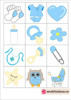 Who am I? Free Printable Game in Blue Color