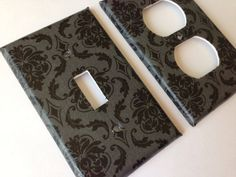 Hey, I found this really awesome Etsy listing at https://www.etsy.com/listing/128892525/black-gray-damask-single-light-switch