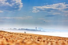 Beach, fog and Watchtower